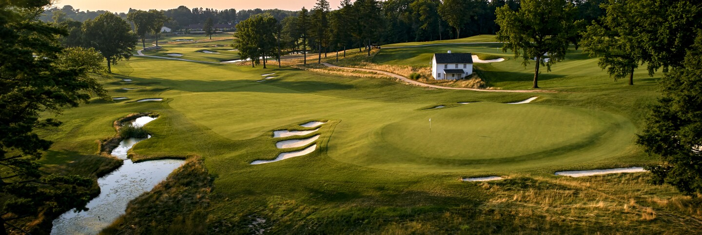Aronimink Course Aerial