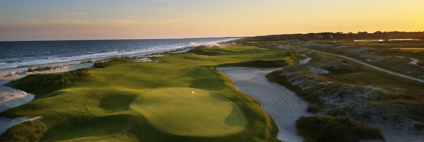The fifteenth hole at the Ocean Course at Kiawah Island Golf Resort