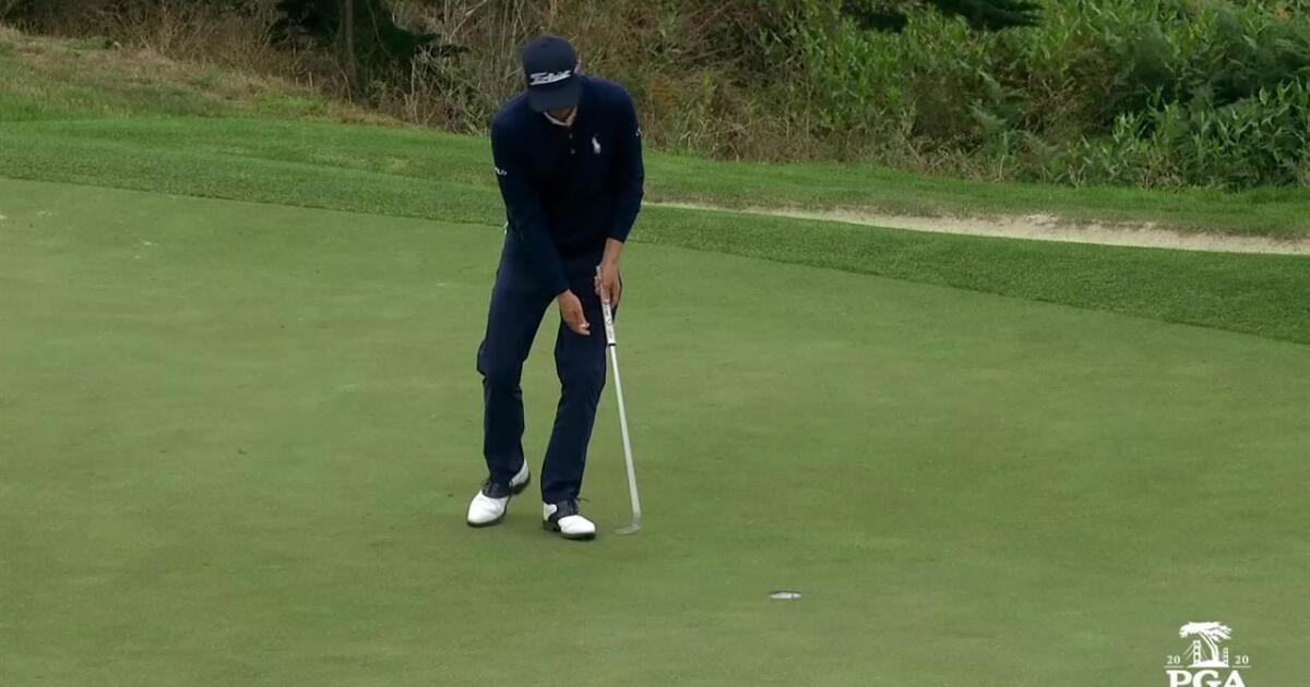 Justin Thomas All shots of the 18th hole - Round 4   PGA ...